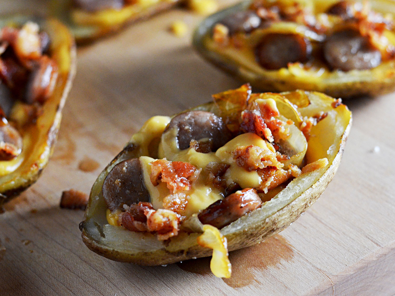 Bratwurst beer cheese bacon potato skins potatoes finished skins 2 morgan eisenberg thumb 1500xauto 418433