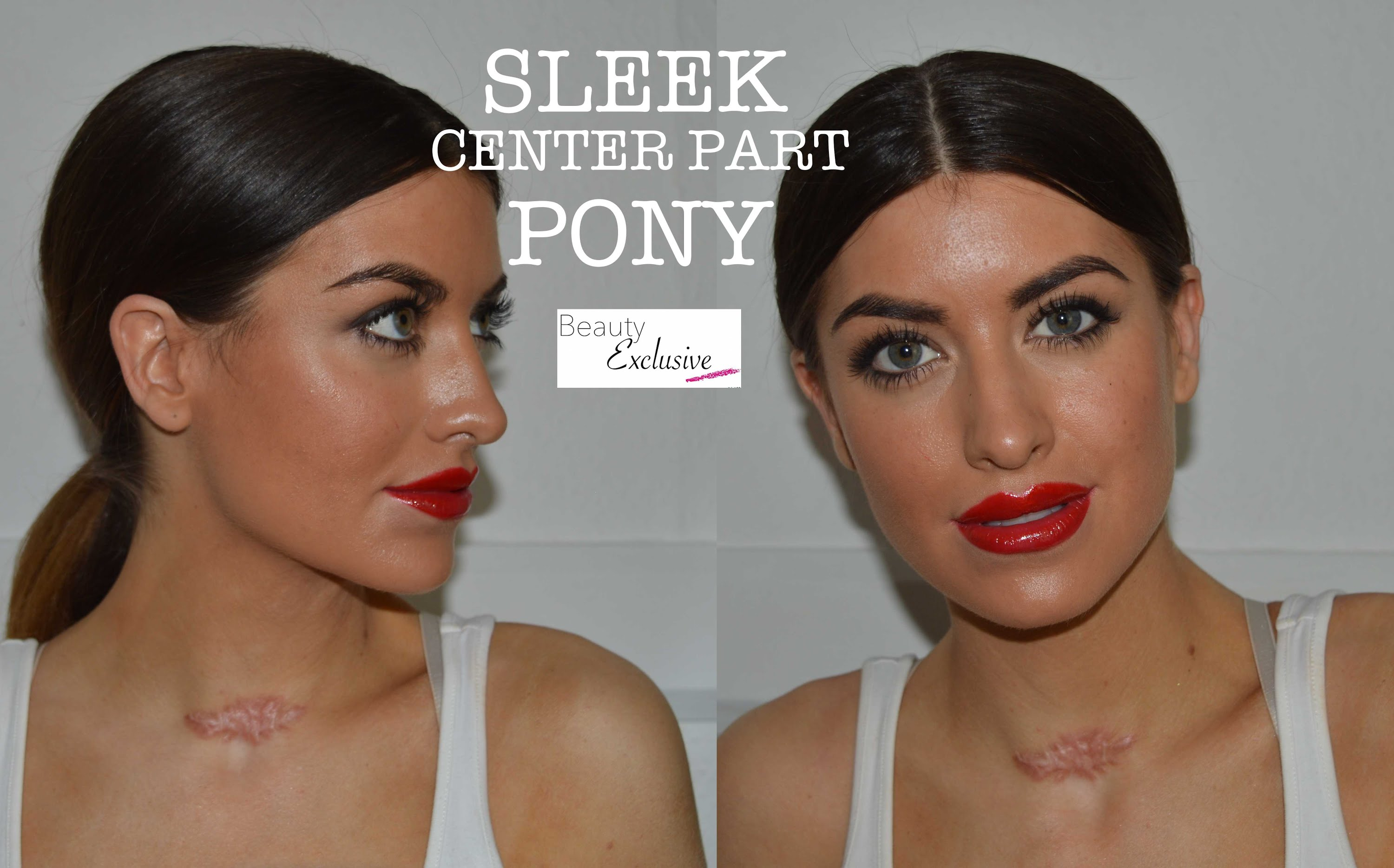 Center point ponytail tutorial