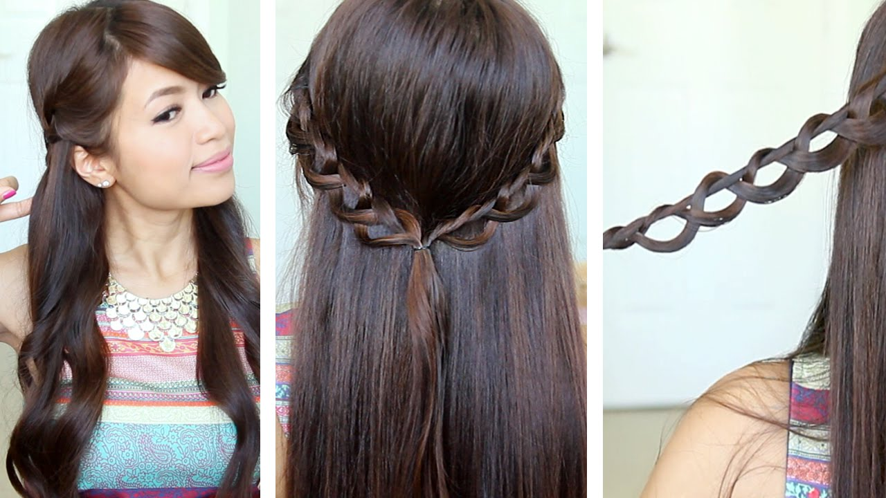 Chain braid headbahde half up