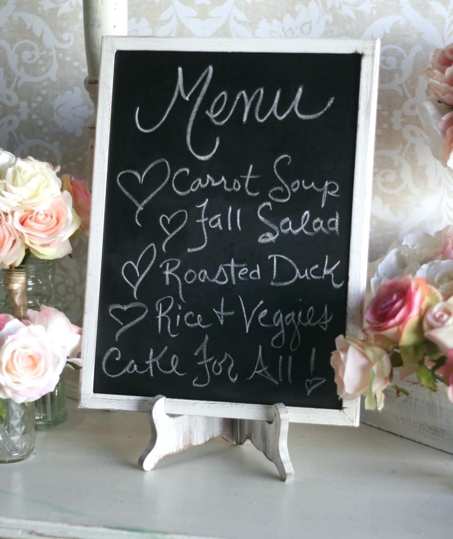 Chalkboard cut to size rustic wedding chalkboard and easel set shabby chic decor barn wedding large 12x16 item number mhd20057 diy chalkboard backdrop