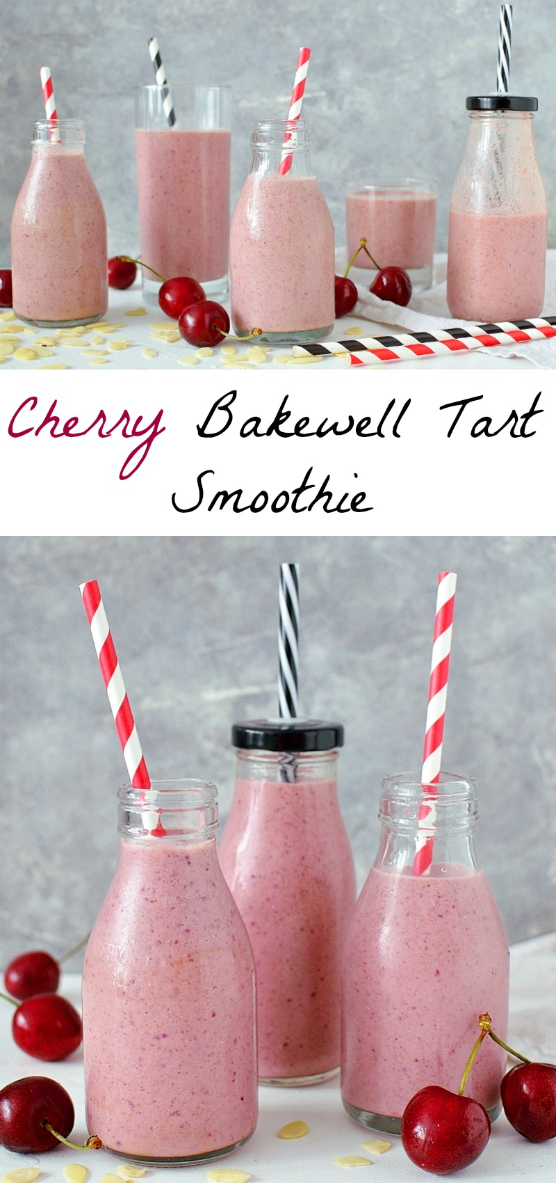 Cherry almond tart smoothie pinterest
