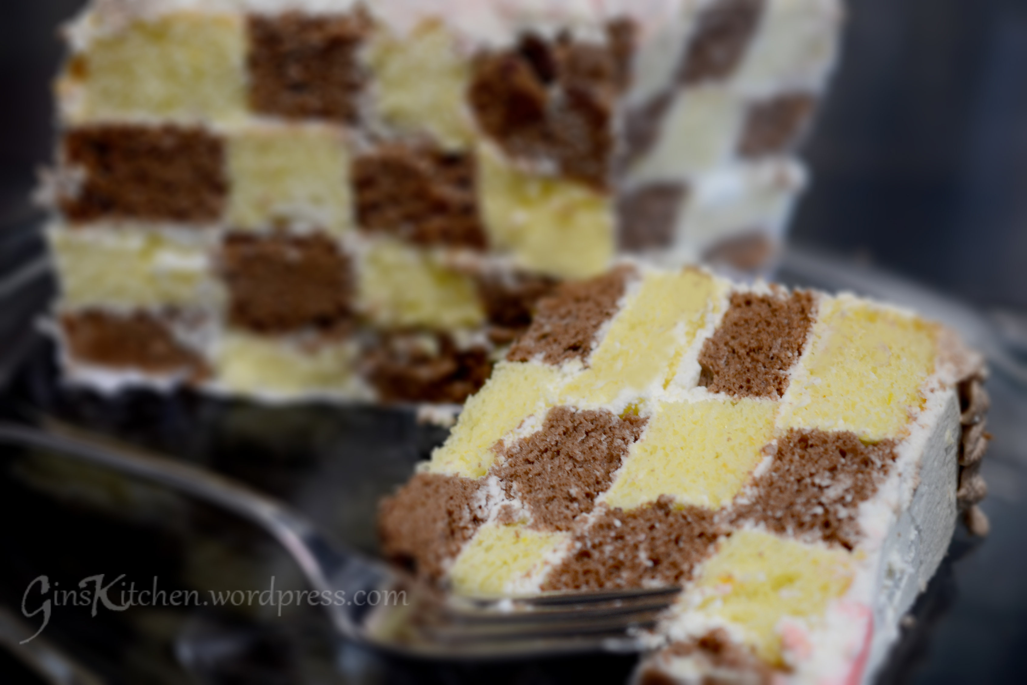 Chiffon checkerboard cake recipe