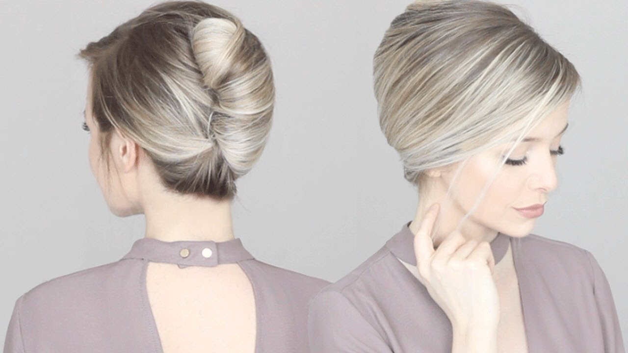 Classic french twist hair