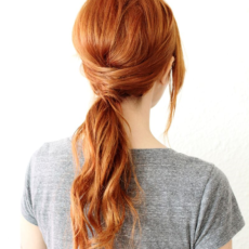 Crisscross ponytail tutorial