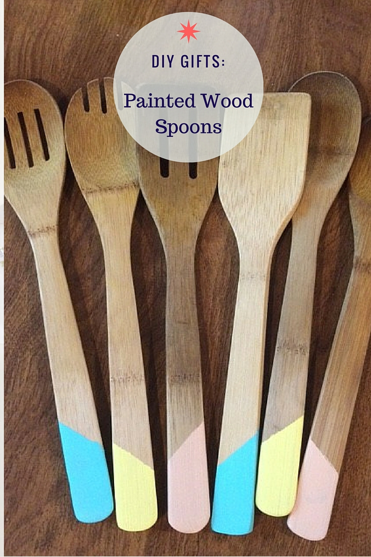 Diy painted wood spoons