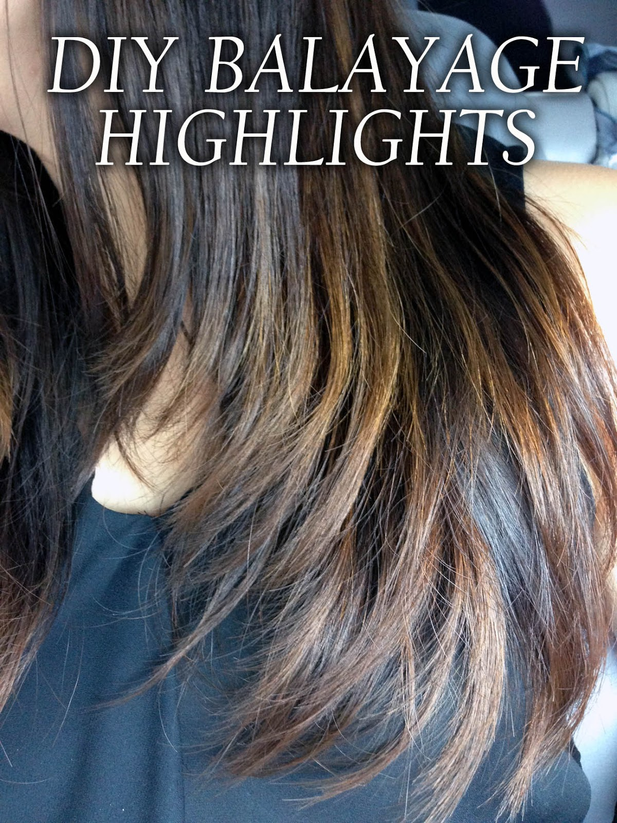 Diy balayage highlights