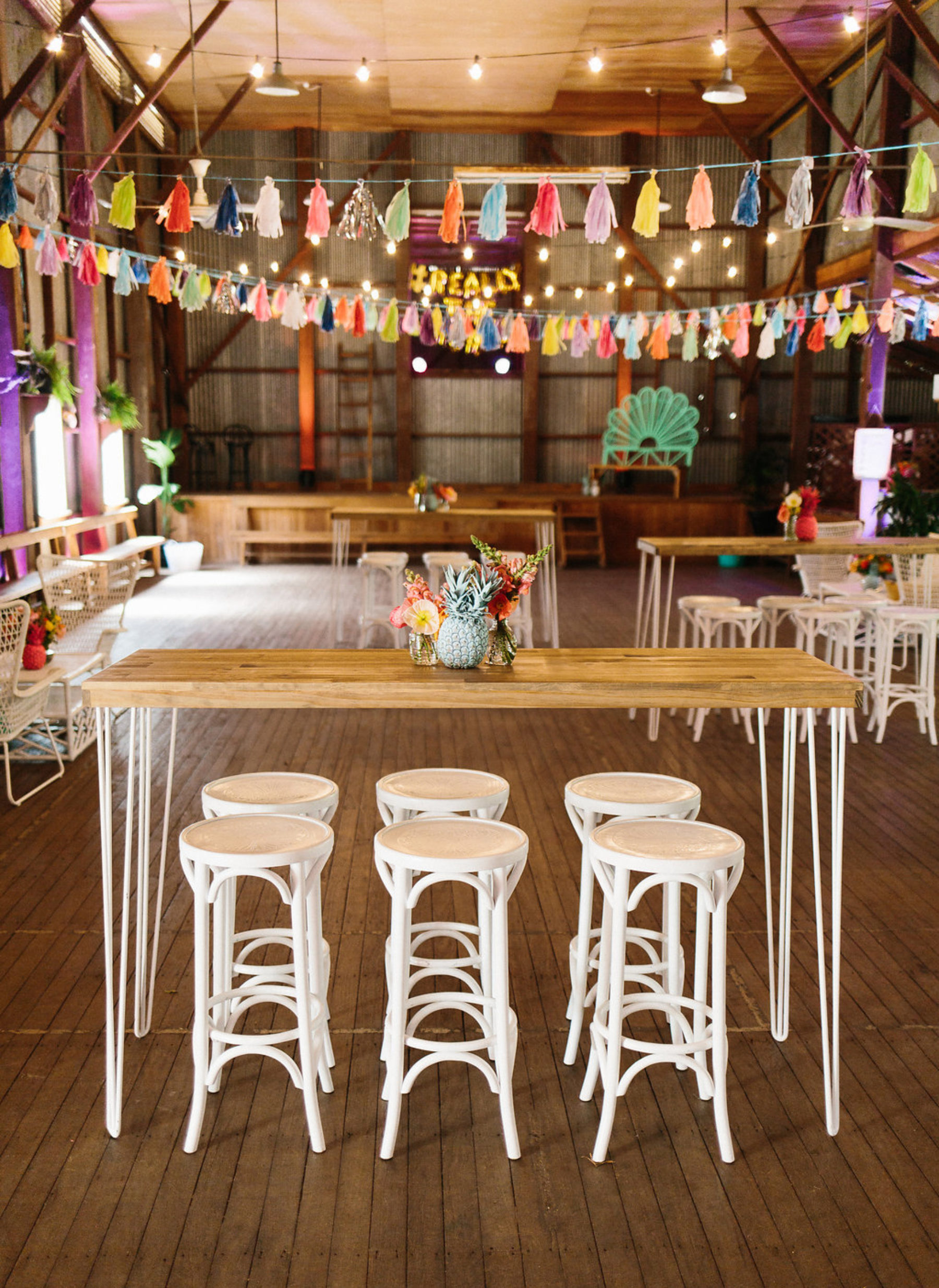 Colourful diy barn wedding at coronation hall brisbane