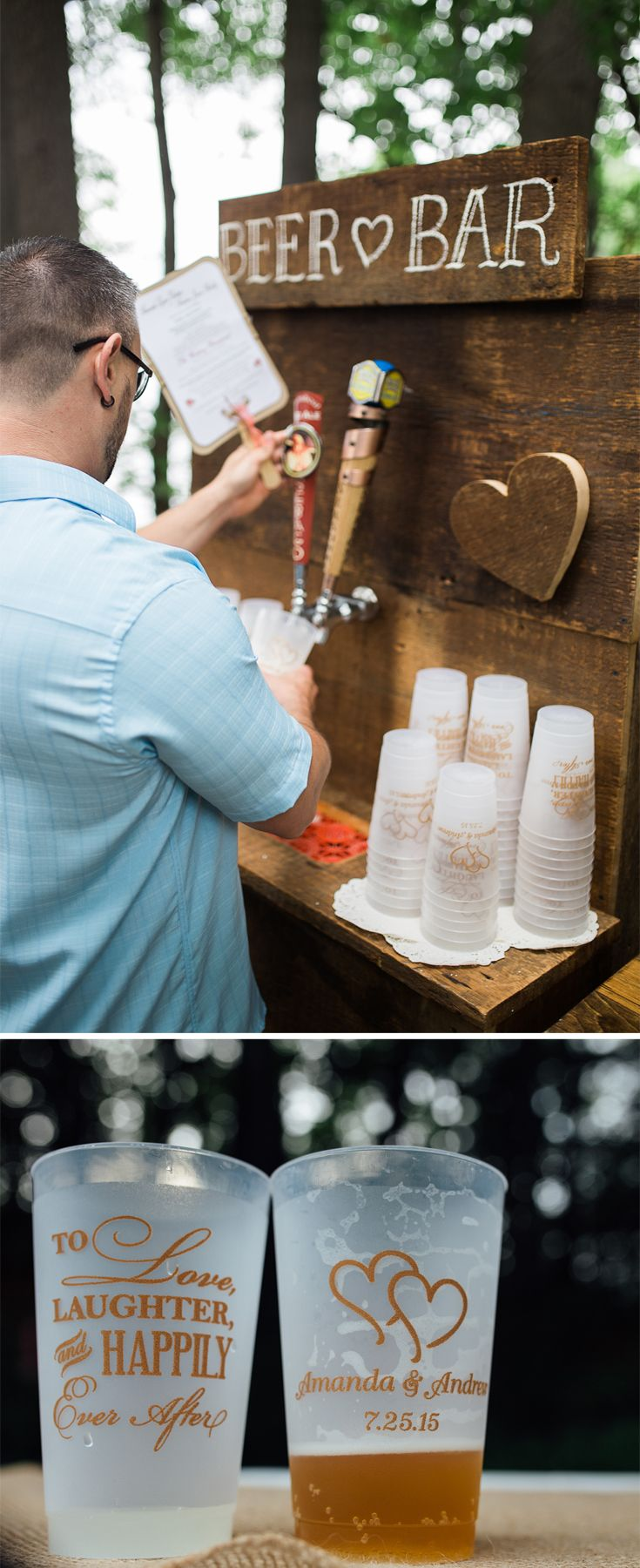 Diy beer bar wedding