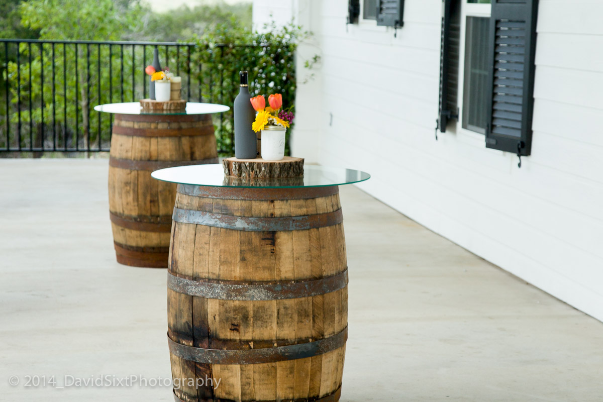 Diy cocktail barrel table