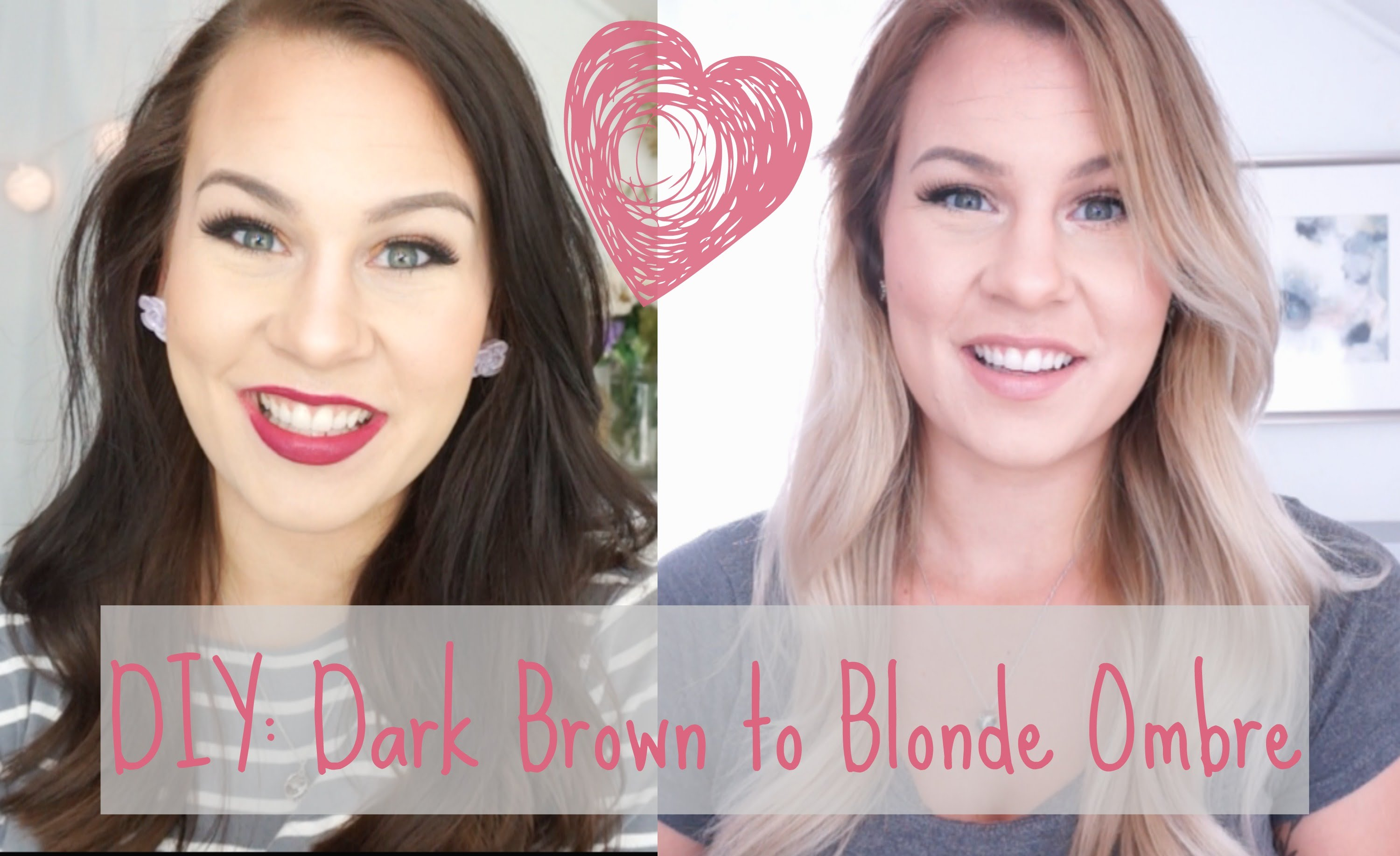 Diy dark brown to blonde ombre hair