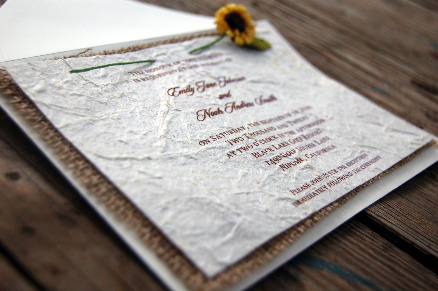 Diy farm wedding invitations