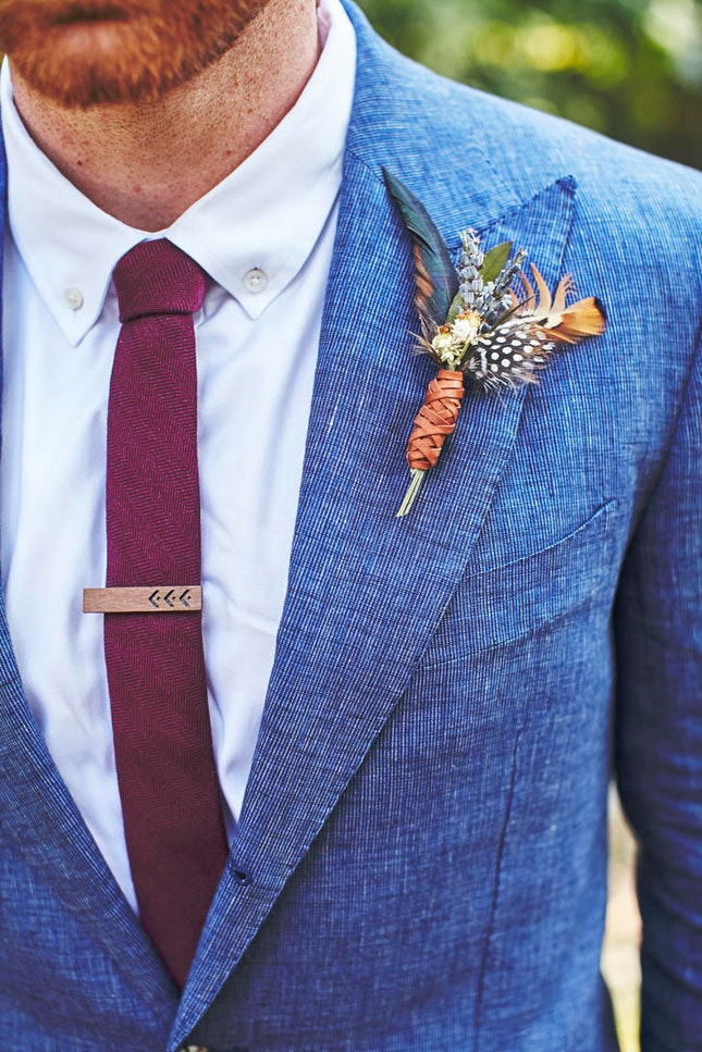Diy feather boutonniere