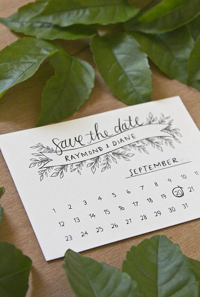 Diy handemade save the dates