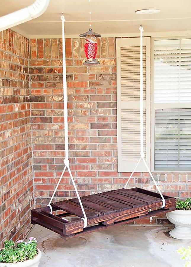 Diy hanging chair bench