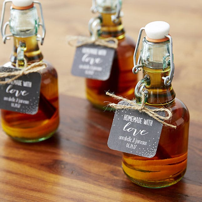 Diy homemade whiskey favors