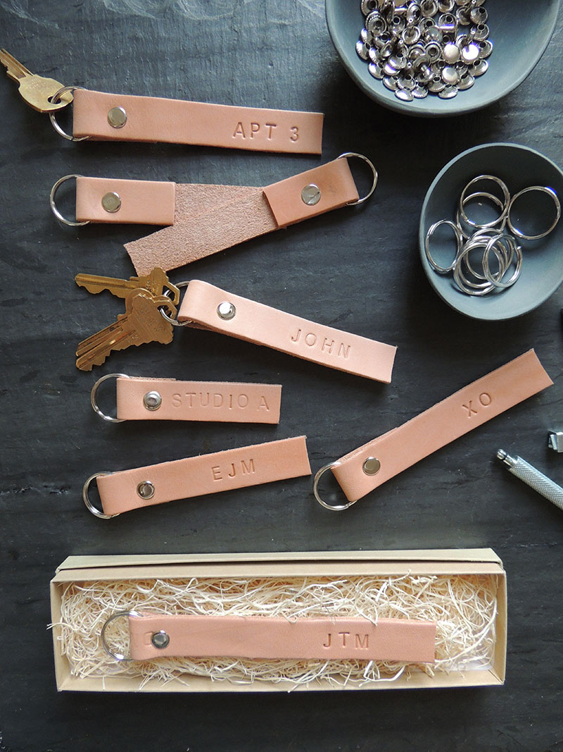 Diy leather keychains