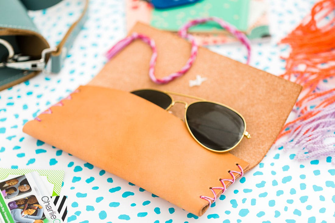 Diy leather sunglasses cases