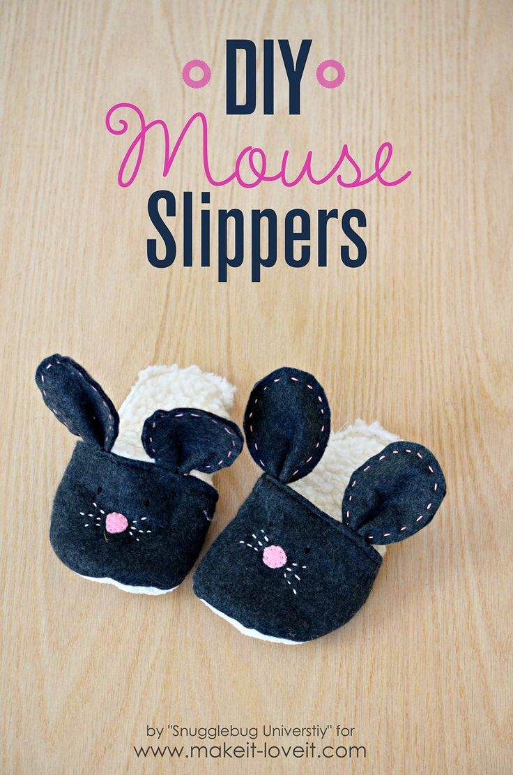 Diy mouse slippers