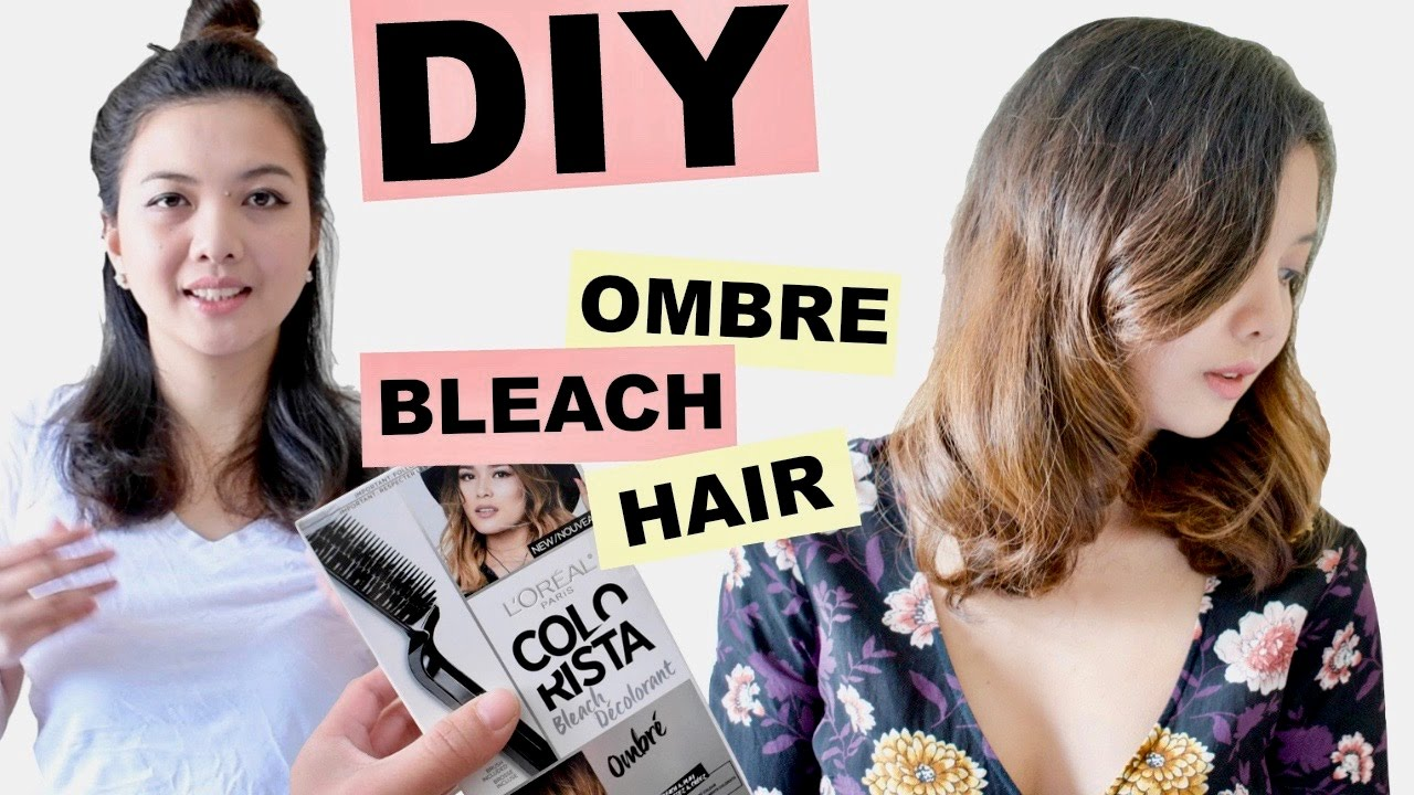 Diy ombre bleach hair