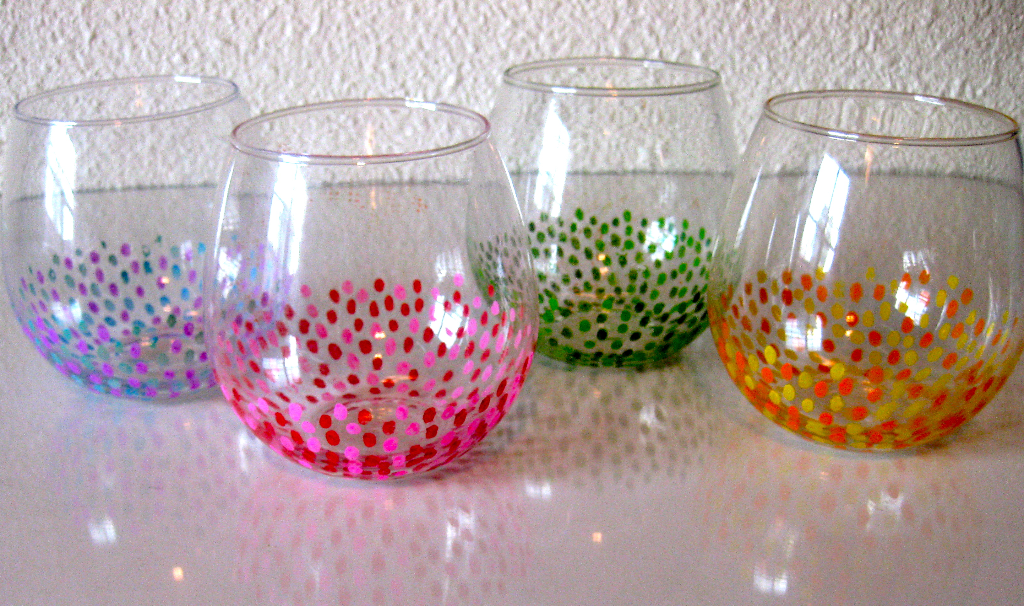 Diy painted wine glasses