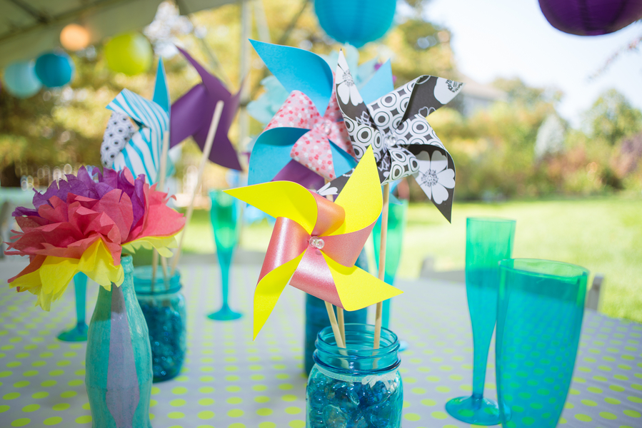 Diy pinwheel accents
