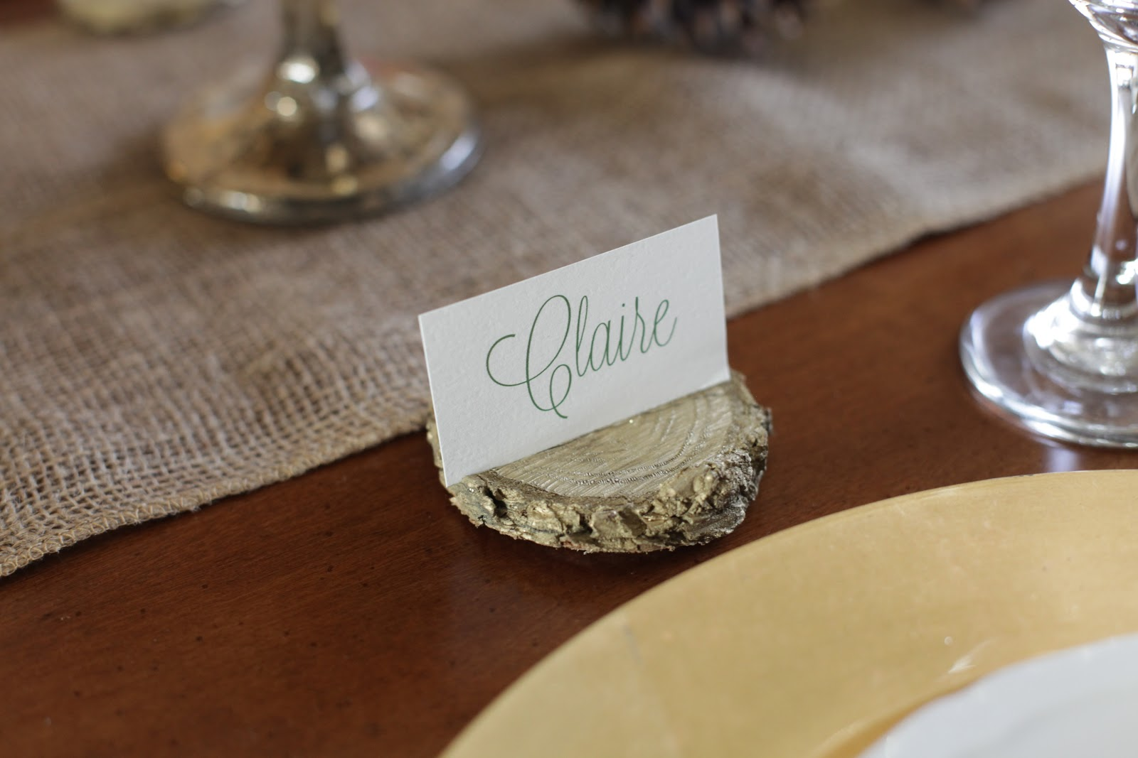 Diy place card holder