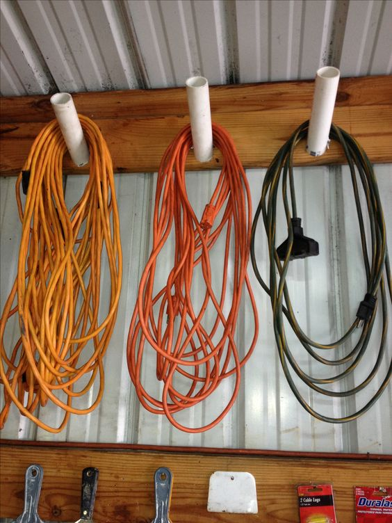 Diy pvc pipe cord hook