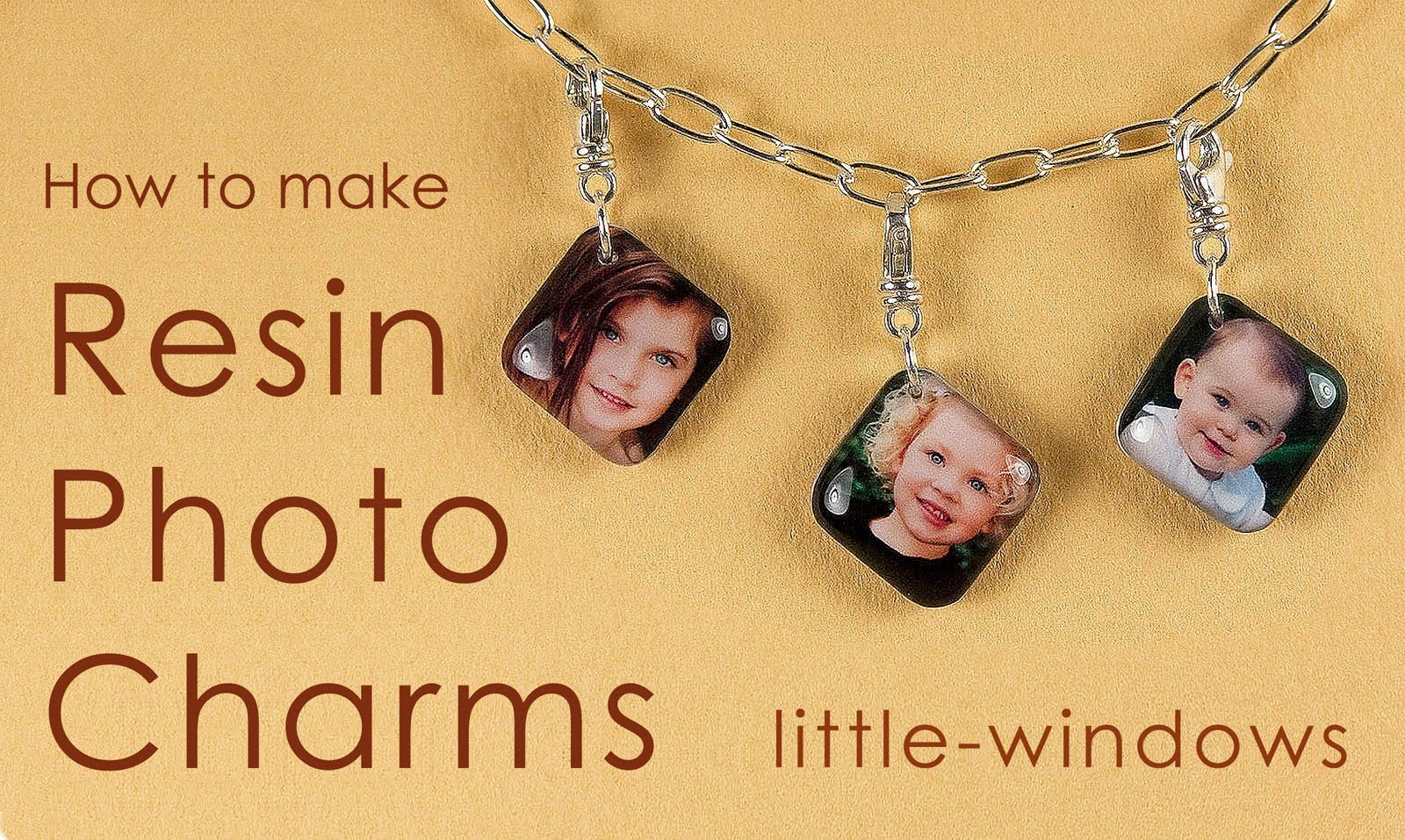 Diy resin photo charms