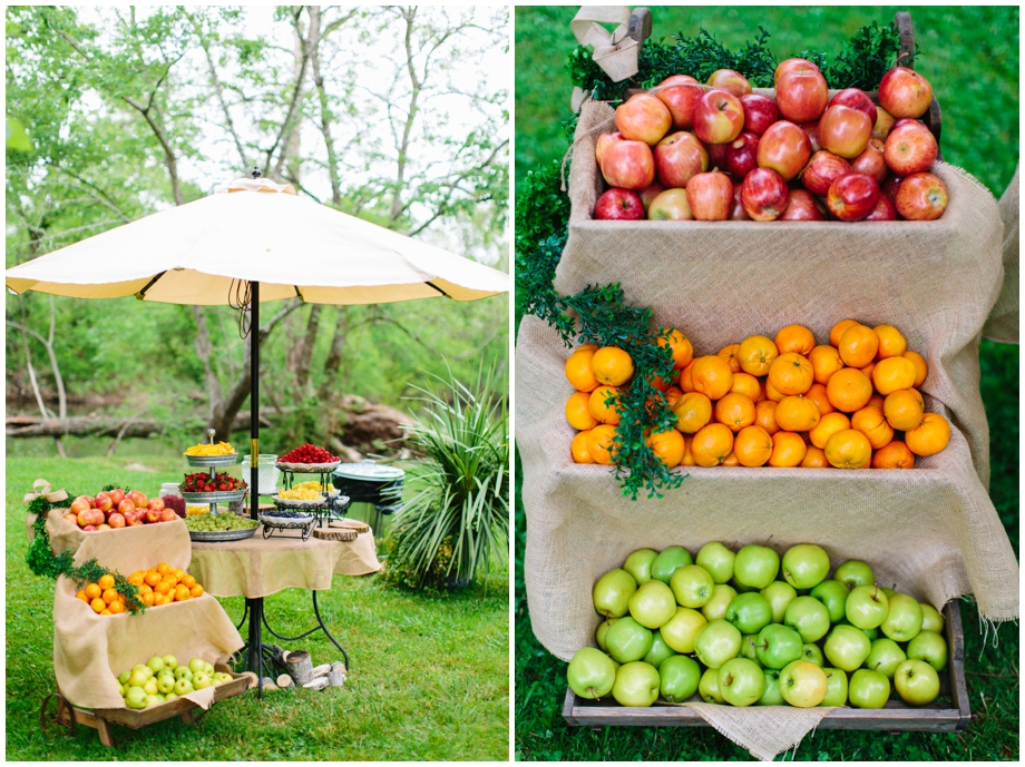 Diy rustic fruit stand