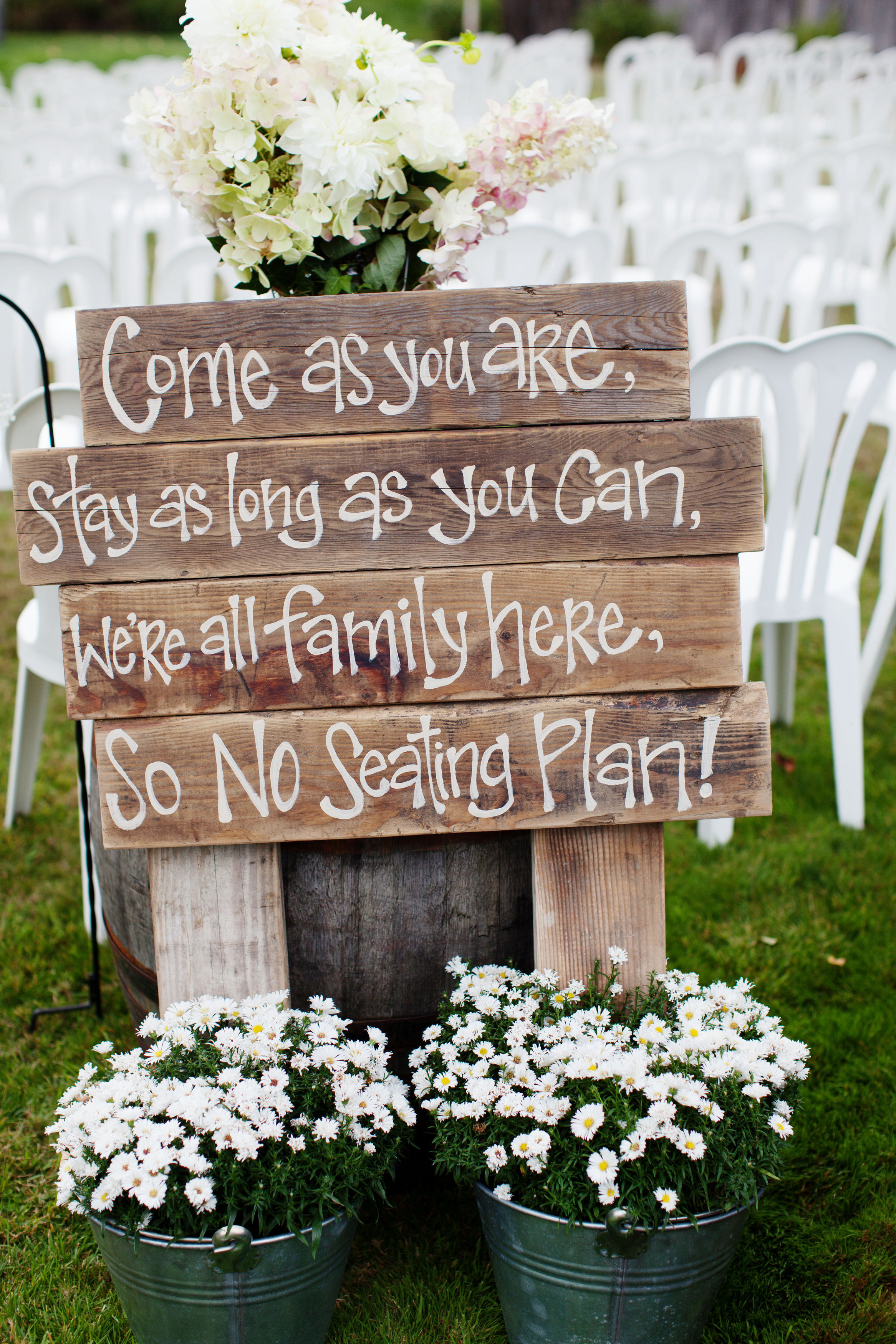 Diy rustic wood ceremony sign