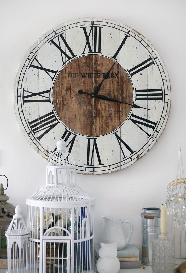 Diy shabby chic wall clock