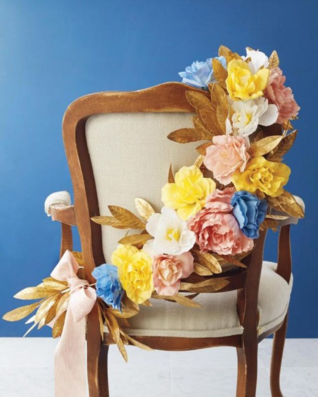 Diy sweetheart chair wreath