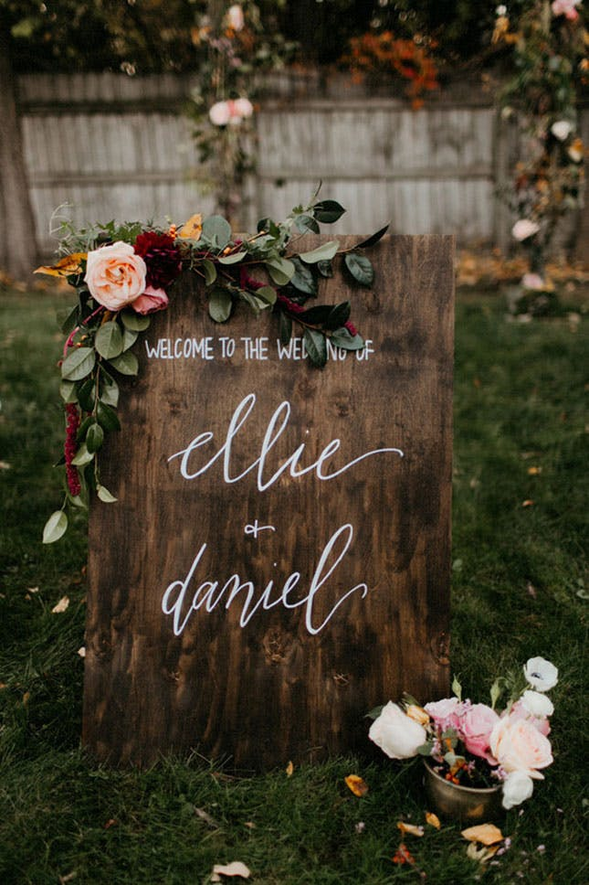 Diy Wooden Welcome Sign Wedding