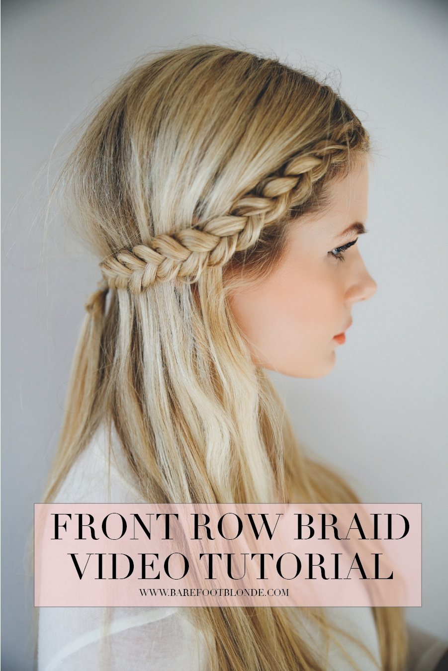 Front row braid tutorial