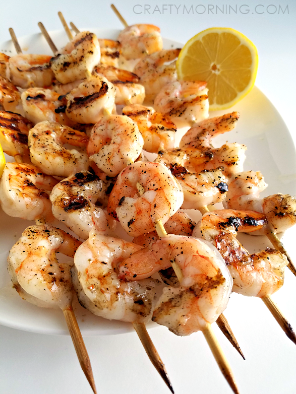 Grilled lemon shrimp recipe