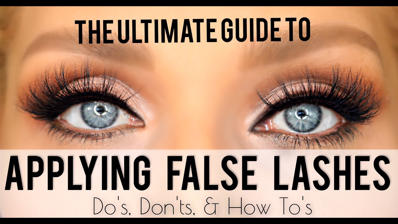 Guide to applying false eyelashes