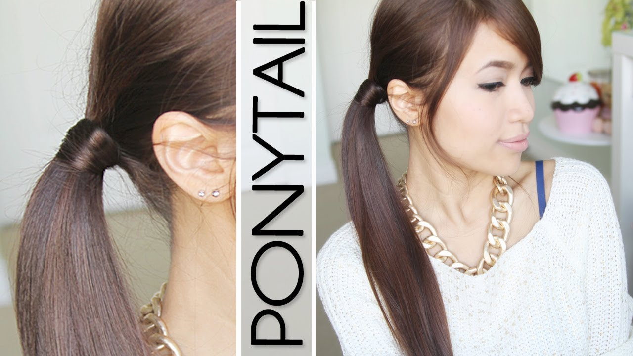 Hair wrapped ponytail tutorial