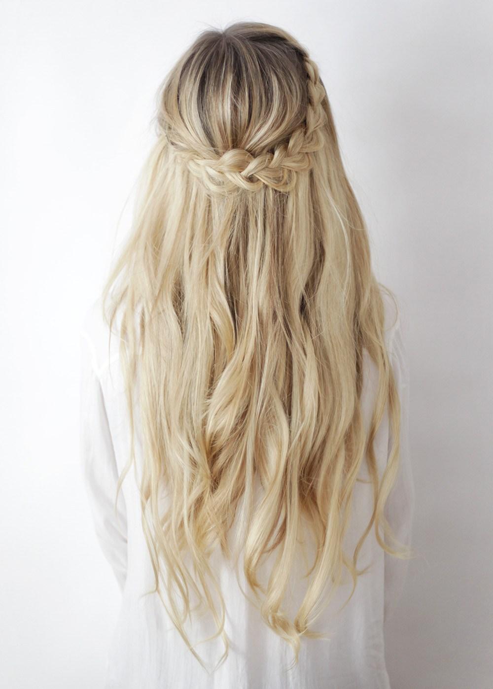Half up boho braid tutorial