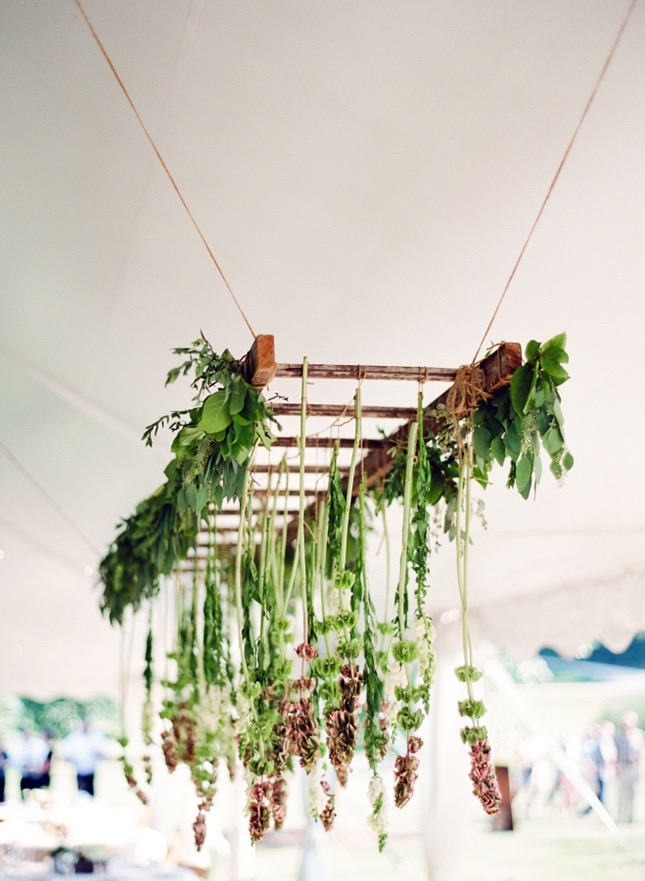 Hanging floral chandeliers diy