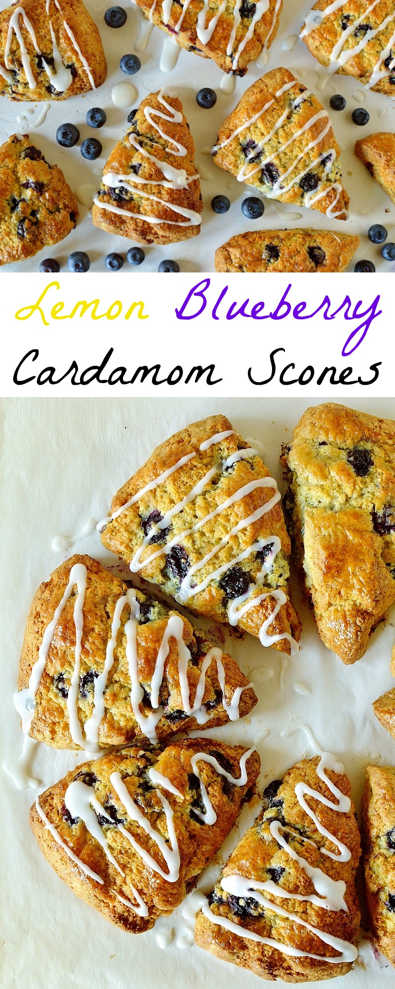 Lemon blueberry cardamom scones pinterest