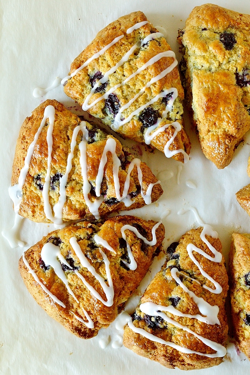 Lemon blueberry cardamom scones - up your breakfast game with these light, tender, delicious scones.