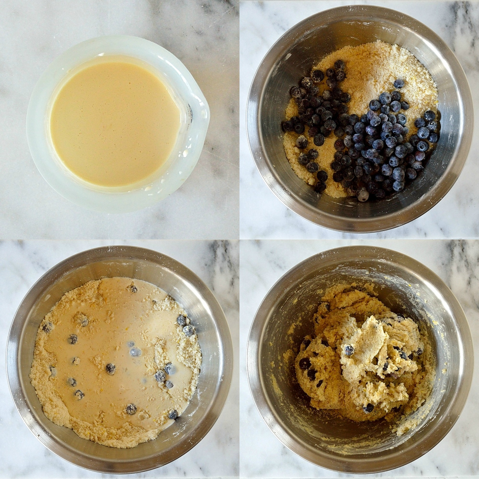 Lemon blueberry cardamom scones step 2