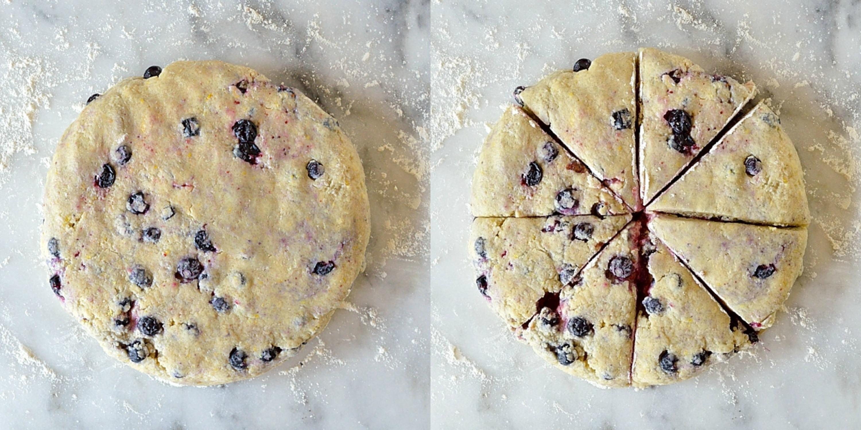 Lemon blueberry cardamom scones step 3