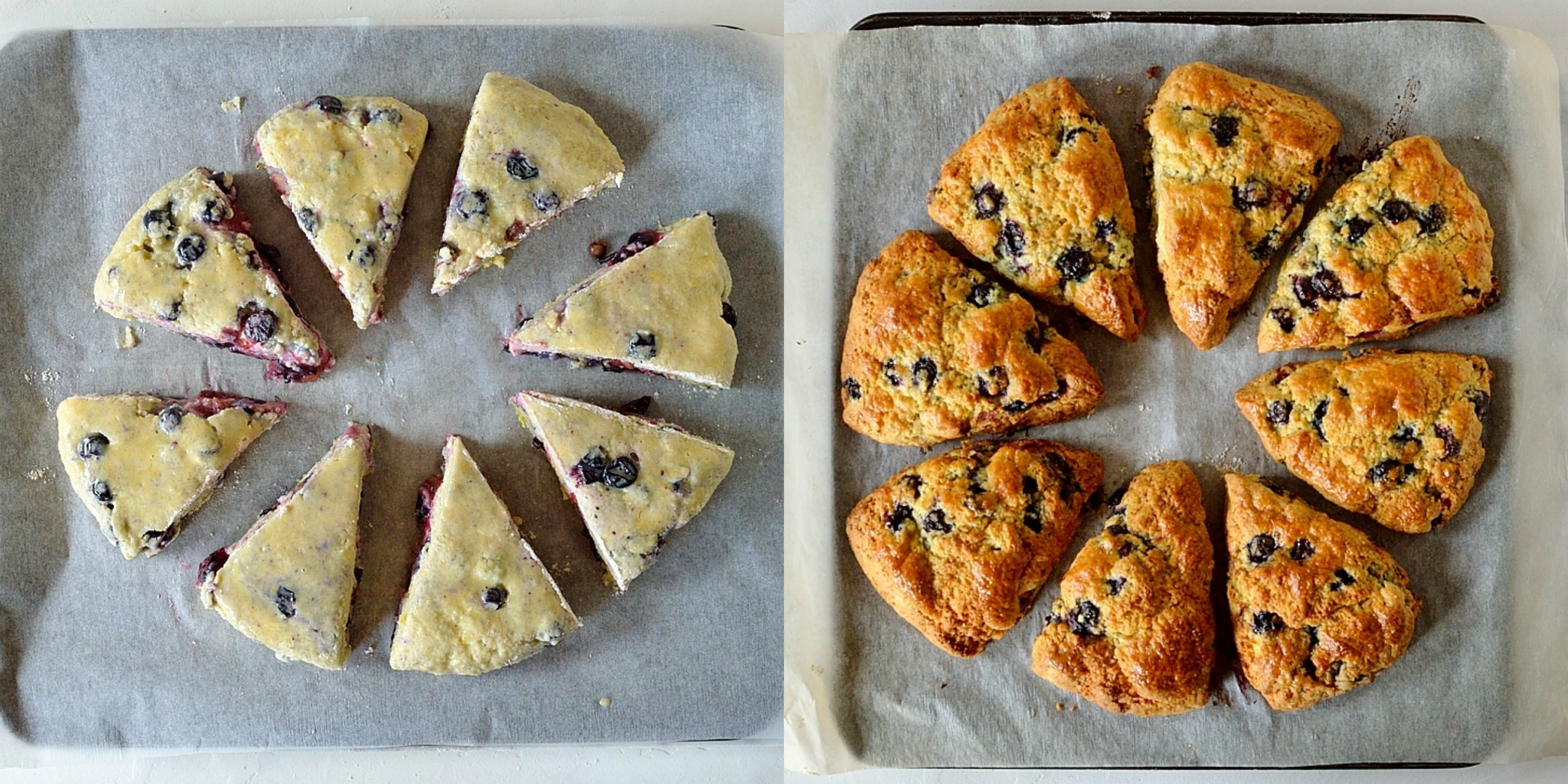 Lemon blueberry cardamom scones step 4