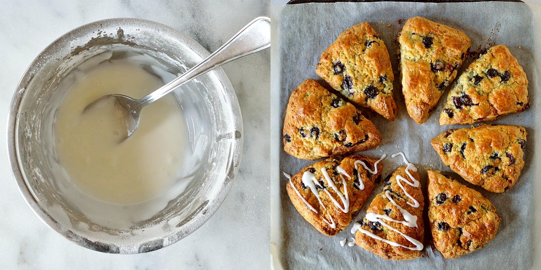 Lemon blueberry cardamom scones step 5
