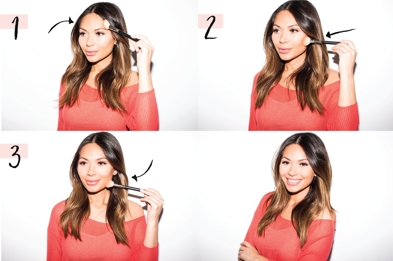 Marianna hewitt how to contour using bronzer tutorial easy light