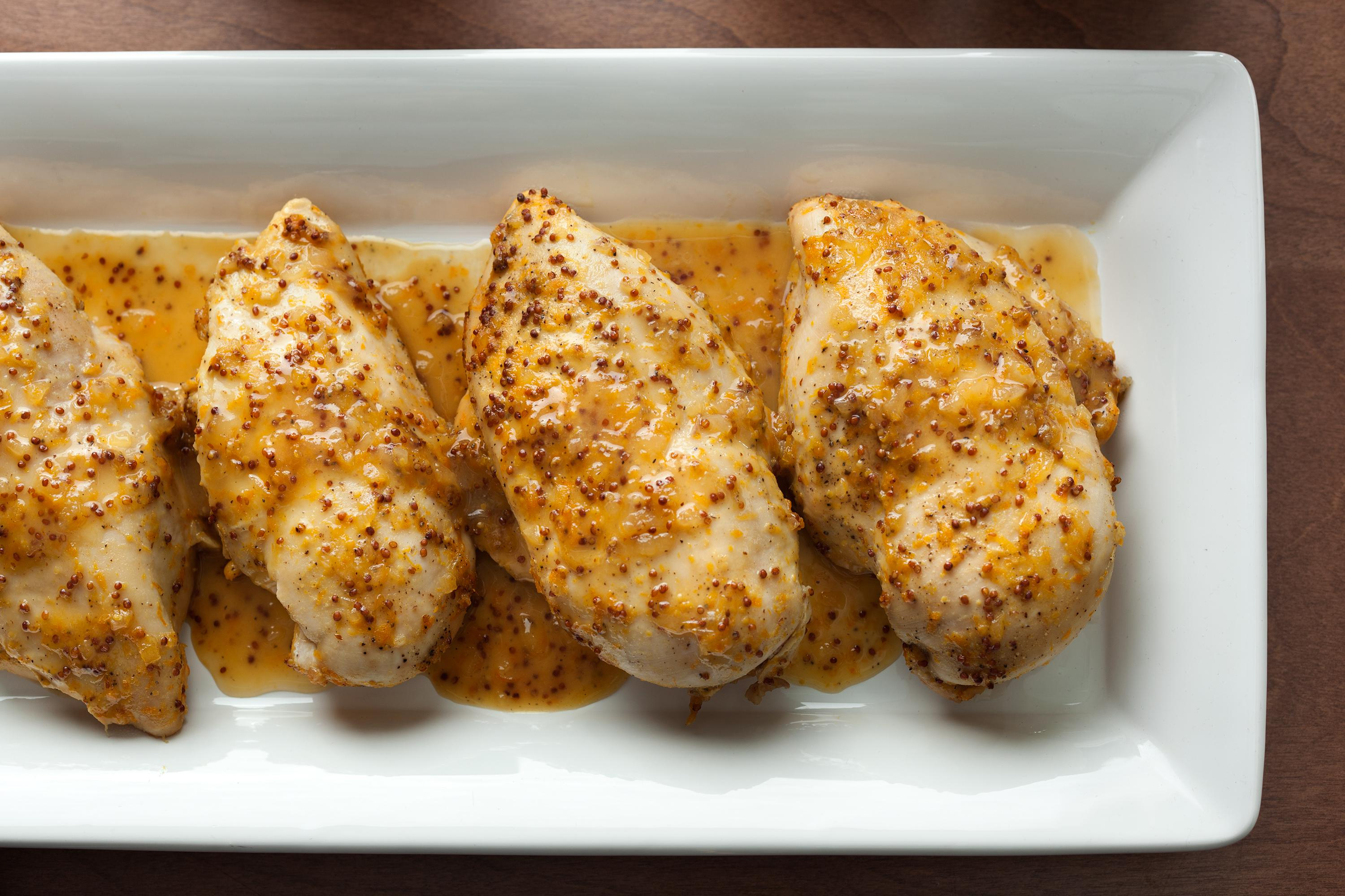 Orange honey mustard baked chicken