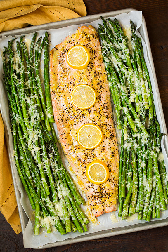 Roasted lemon pepper salmon and parmesan asparagus5 srgb