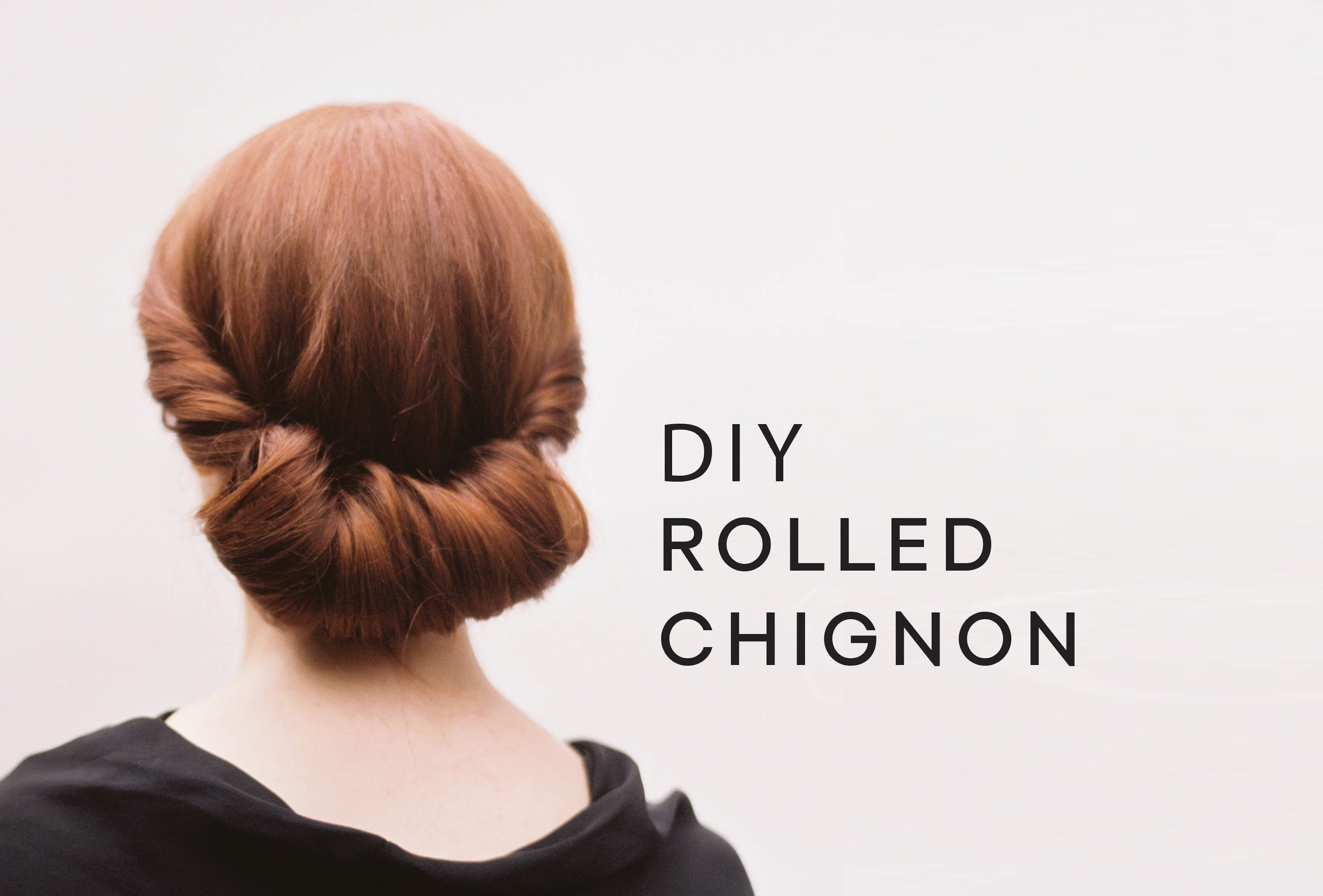 Rolled chignon hair tutorial