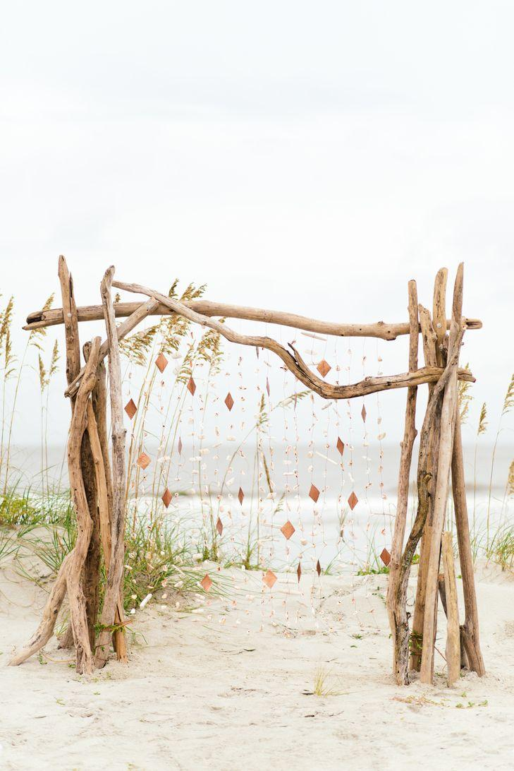 Romantic beach chuppah diy
